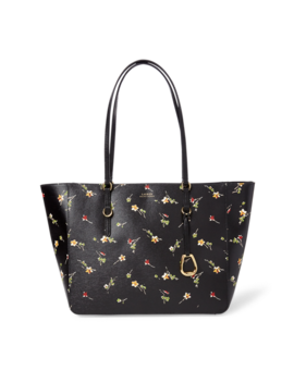 Floral Leather Tote by Ralph Lauren