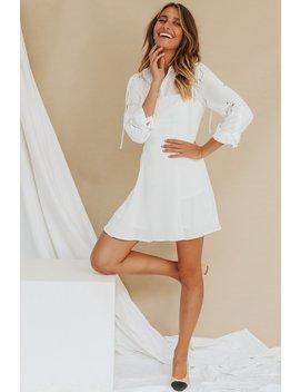 U.S Towns Tie Mini Dress // White by Vergegirl