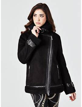Biker Model Suede Look Jacket by Guess
