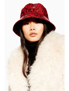 Snake Bucket Hat by Topshop