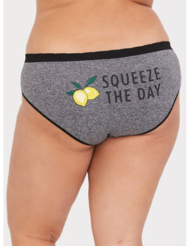 'squeeze The Day' Grey Seamless Hipster Panty by Torrid