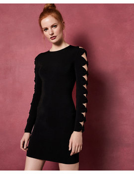 Knitted Sleeve Bodycon Dress by Ted Baker