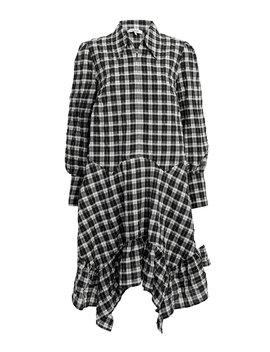 Seersucker Check Shirt Dress by Ganni