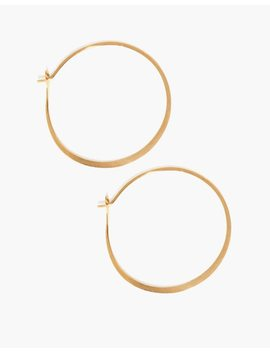 "Melissa Joy Manning® 14k Gold 1.5"" Round Hoop Earrings by Madewell"