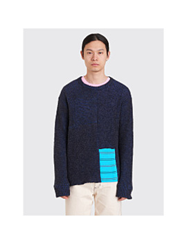 Eckhaus Latta Scrubbie Sweater Midnight Blue by Très Bien