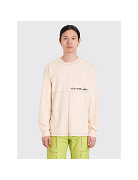 Eckhaus Latta Lapped Ls T Shirt Natural by Très Bien