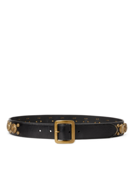 Studded Leather Belt by Ralph Lauren