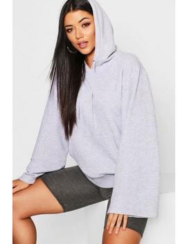 Hoodie Basique à Manches Larges by Boohoo