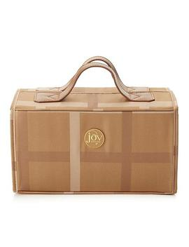 Joy Luxe Plaid Nylon &Amp; Leather Large Better Beauty Case by Joy Mangano