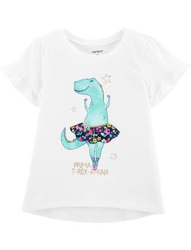 Glitter Dinosaur Ballerina Hi Lo Tee by Carter's