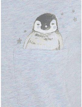 Marl Blue Penguin Pyjamas by Asda