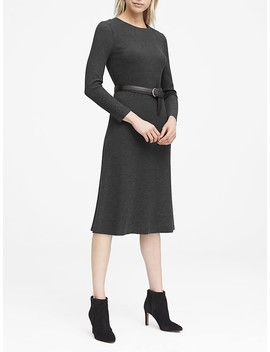 Japan Online Exclusive Ribbed Midi Sweater Dress by Banana Repbulic