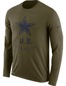 Nike Men's Salute To Service Dallas Cowboys Legend Performance Long Sleeve Shirt by Nike