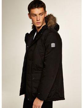 Element Black 'fargo' Parka Jacket* by Topman