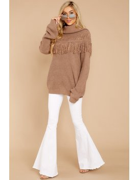 Oh My Fringe Brown Sweater by See And Be Seen