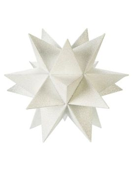 Canvas 3 D Star Tree Topper, White,  8.5 In by Canadian Tire