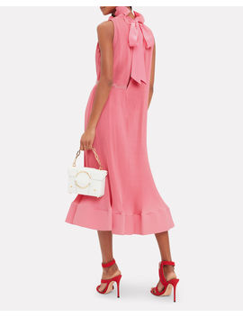 Pink Pleated Dress by Tibi