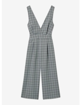 Grey Check Pinafore Jumpsuit by Miss Selfridge
