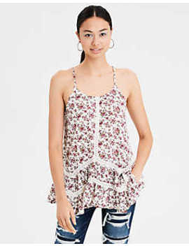Ae Lace Inset Cami by American Eagle Outfitters