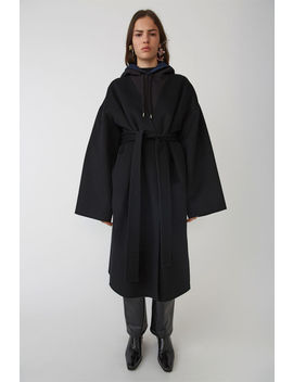 Poncho Coat Black Melange by Acne Studios