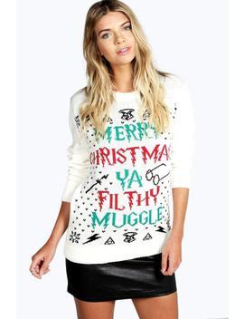 Pull De Noël Ya Filthy Muggle by Boohoo
