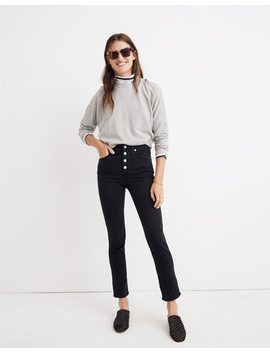 Petite Slim Straight Jeans In Lunar Wash: Button Front Edition by Madewell
