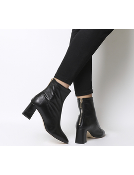 All Day  Back Zip Block Heel Boot by Office