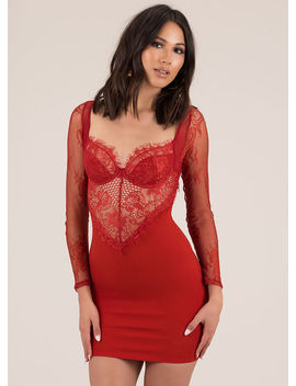 Hot Nights Sheer Lace Minidress by Go Jane