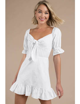 The Fifth Label Currency White Front Tie Dress by Tobi