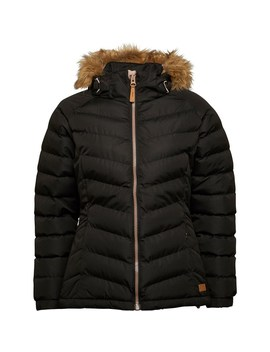 Trespass Womens Nadina Padded Hooded Jacket Black by Trespass