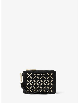 Embellished Leather Coin Purse by Michael Michael Kors