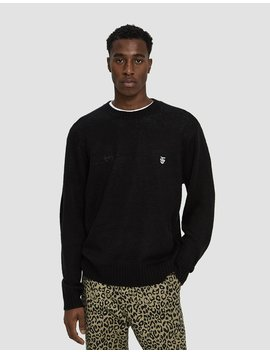 Court Crewneck Sweater In Black by Obey