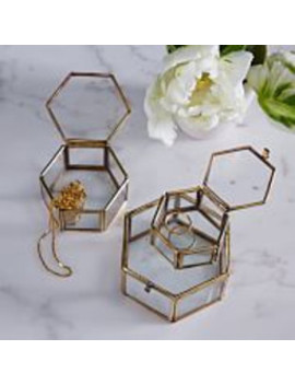 Nesting Glass Shadow Boxes   Hexagon (Set Of 3) by West Elm
