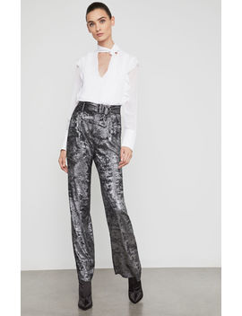 Metallic High Waist Pant by Bcbgmaxazria