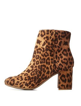 Leopard Print Booties by Charlotte Russe