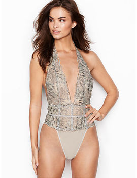 New! Embroidered Lace Teddy by Victoria's Secret