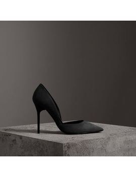 Cutaway Suede Pumps by Burberry