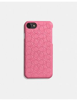 Iphone 6s/7/8/X/Xs Case In Signature Leather by Coach