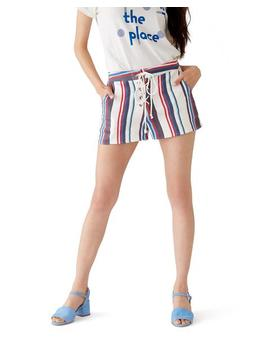 Azul Lace Up Shorts by Ban.Do