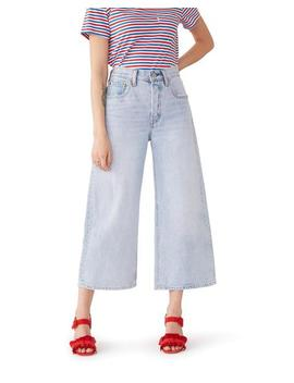 High Water Wide Leg Jeans by Ban.Do