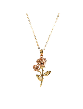 Womens Two Tone 14kt. Rose Pendant by Boscov's