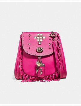 Fringe Saddle Bag With Pyramid Rivets by Coach