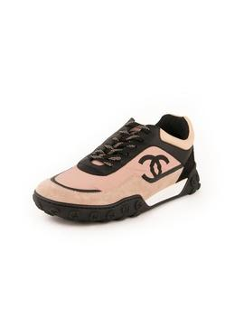 Nylon &Amp; Calfskin Low Tops Sneakers   Pink / Black by Chanel