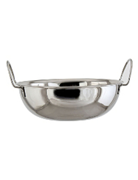 Stainless Steel Balti Dishes   Set Of 2 by Asda