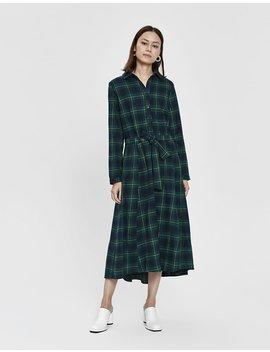 Jay Flannel Dress In Green by Stelen