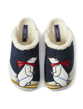 Women's Felt Animal Scuff Slippers by Lands' End