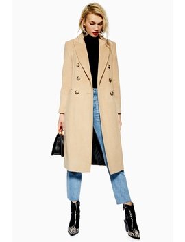 Brushed Coat by Topshop