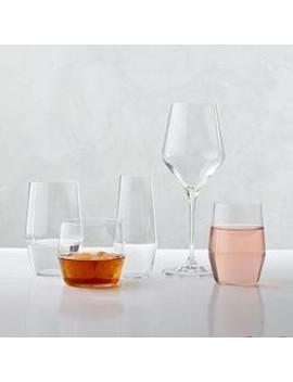 Oblique Glassware (Set Of Four) by West Elm