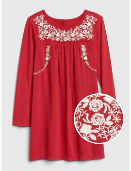 Embroidered Swing Dress by Gap