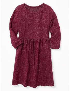 Fit &Amp; Flare Plush Knit Dress For Girls by Old Navy